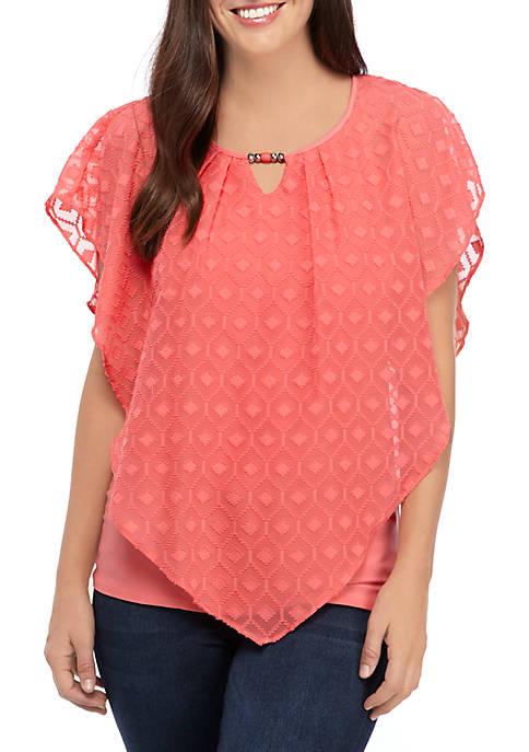 Kim Rogers® Petite Poncho Top