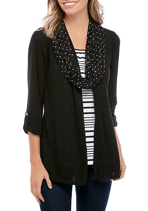 Kim Rogers® Petite 3/4 Sleeve 3Fer Top