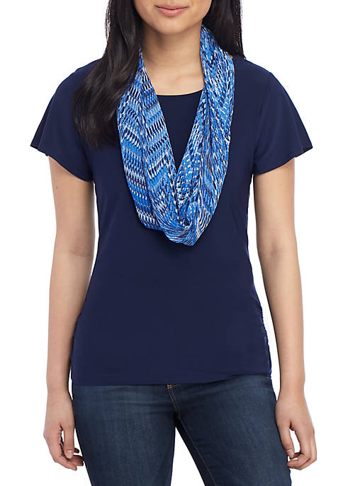 Kim Rogers® Petite Knit Top and Scarf