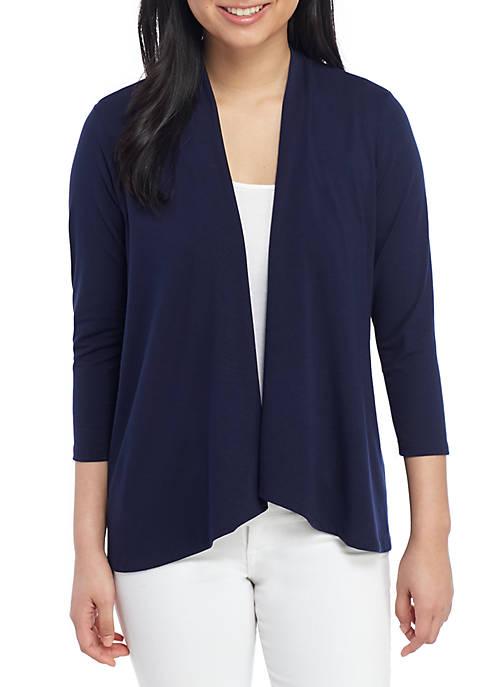 Kim Rogers® Petite 3/4 Sleeve Knit Cardigan