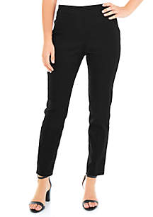 Petite Split Waist Slim Fit Pants