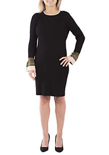 Petite Bell Sleeve Sweater Dress