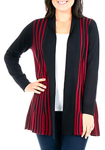 NY Collections Petite Rib Knit Cardigan