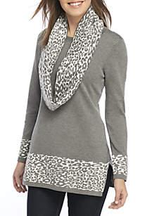 Petite Cheetah Scarf Tunic
