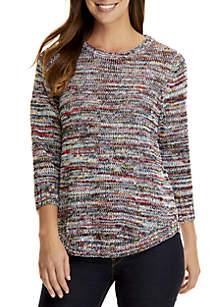 Petite Space Dye Sweater