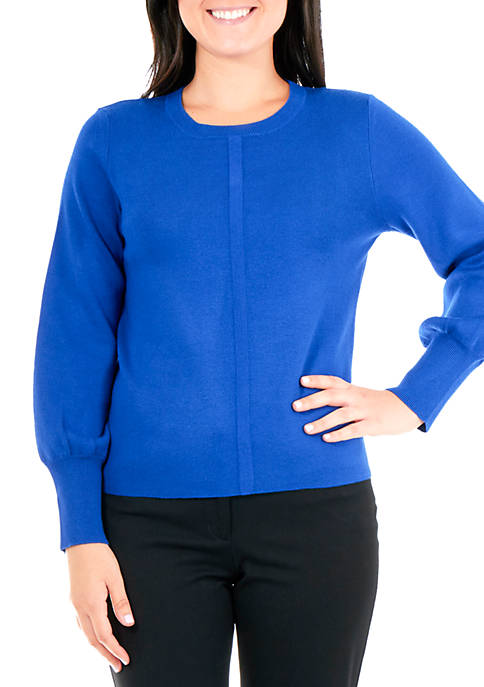 Kim Rogers® Petite Balloon Sleeve Crew Neck Sweater