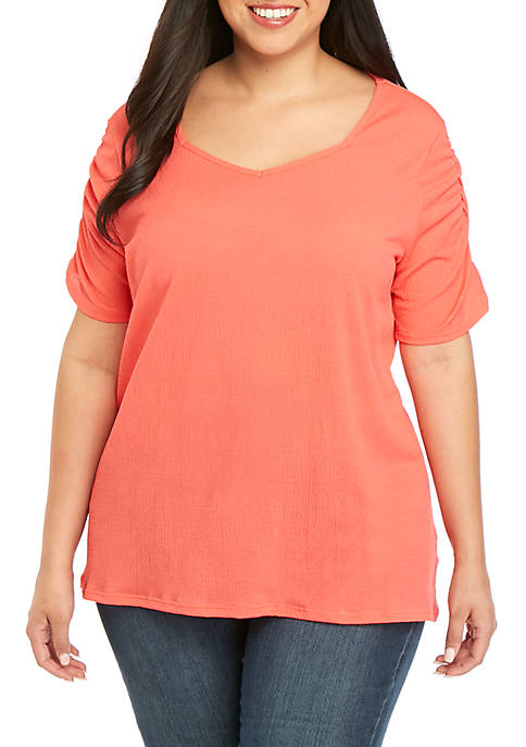 Kim Rogers® Plus Size High Low Top