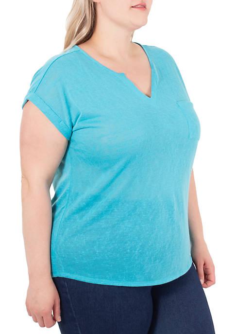 Kim Rogers® Plus Size Short Sleeve Dolman Top