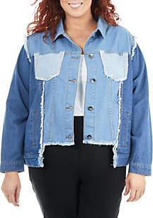 Plus Size Multi-Wash Denim Jacket