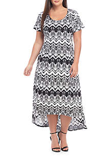 852b0da5a3e ... Kim Rogers® Plus Size High Low Maxi Dress