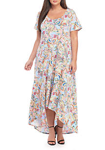 ccc025d9e10 Madison Plus Size Wrap Dress · Kim Rogers® Plus Size High Low Maxi Dress