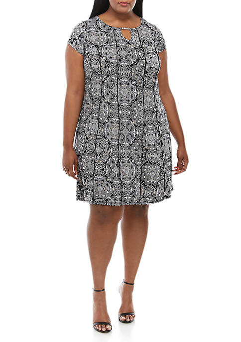 Kim Rogers® Plus Size Keyhole Neck Fit and