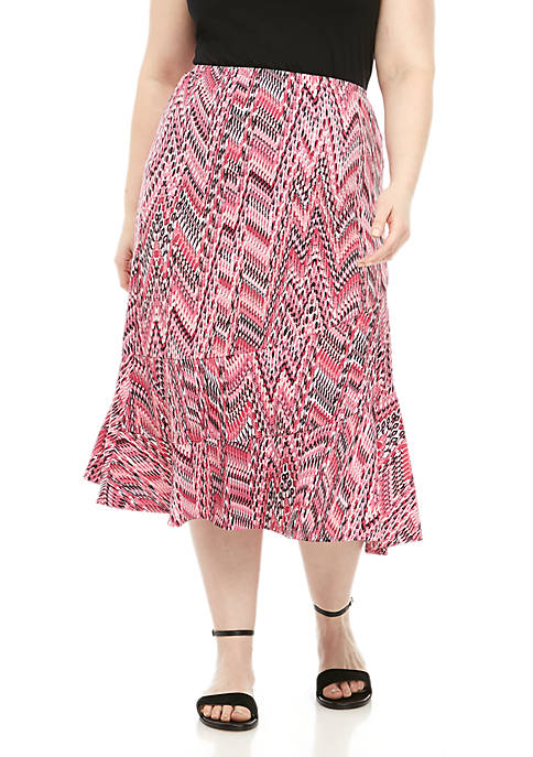 Plus Size Seamed Skirt