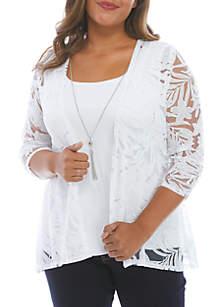 Kim Rogers® Plus Size Poncho Top
