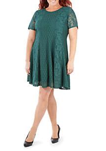 Plus Size Dual Lace Panel Dress