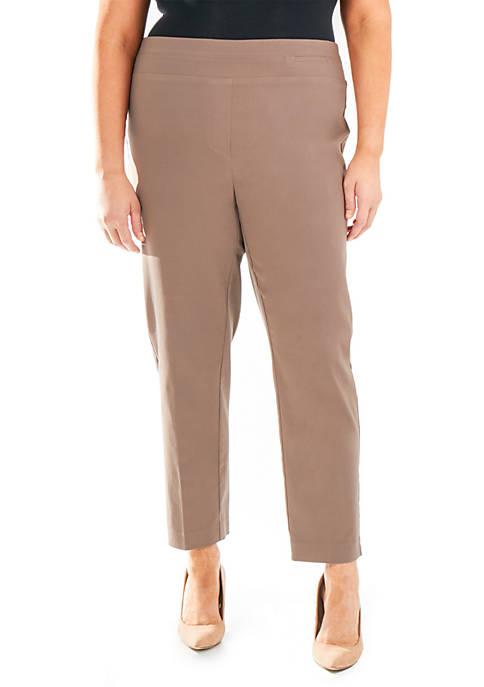 Plus Size Split Waist Slim Fit Pants