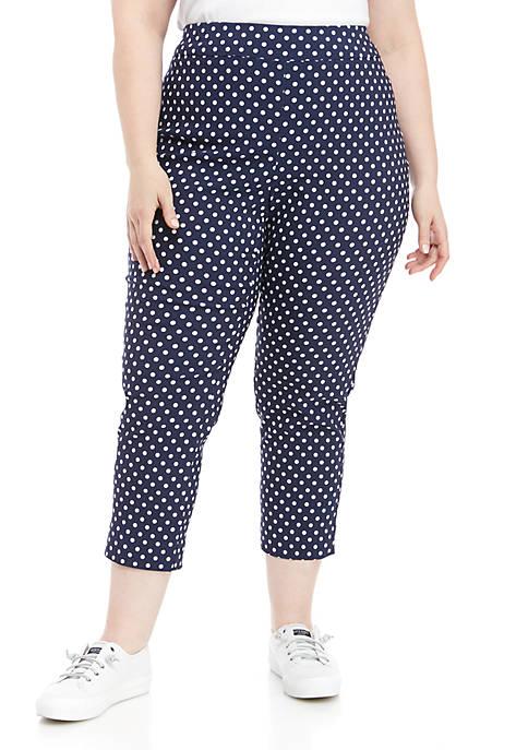 Plus Size Printed Millennium Pants
