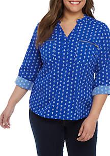 d4b0f19eb3b43 ... Kim Rogers® Plus Size Zipper Utility Top