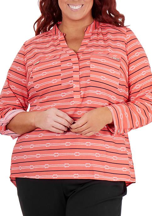 Kim Rogers® Plus Size Zip Pocket Utility Top