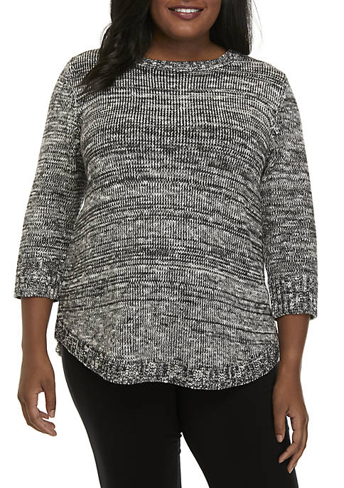 Kim Rogers® Plus Size Notation Promo Sweater