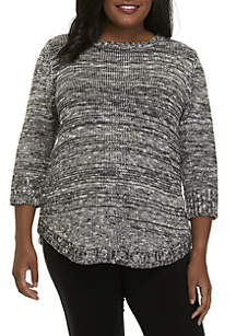 Plus Size Notation Promo Sweater