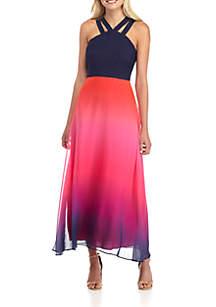 Sara Double Strap Ombre Maxi Dress