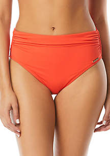 Vince Camuto Riviera Solid Convertible High Waist Swim Bottoms