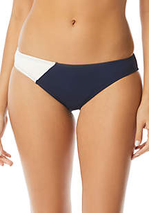 Vince Camuto Colorblock Classic Bikini Swim Bottoms