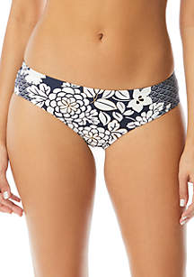 Vince Camuto Shirred Smooth Fit Cheeky Swim Bottoms