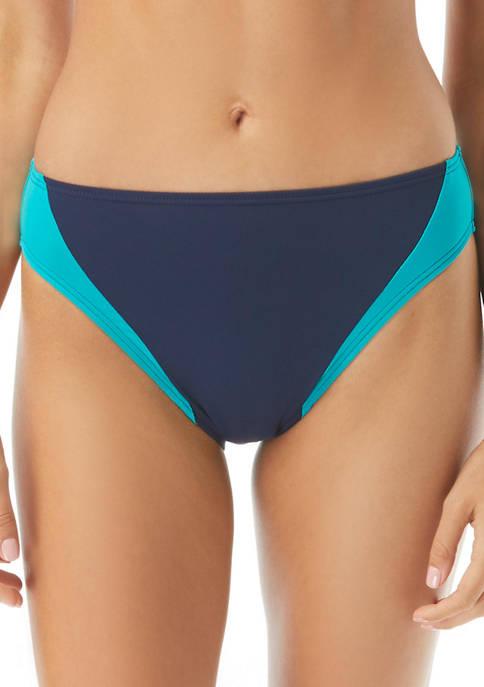 Color Block High Leg Swim Bottoms