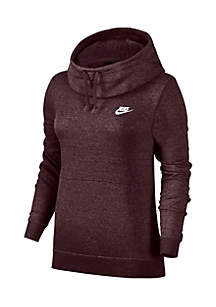 Funnel Neck Fleece Sweatshirt