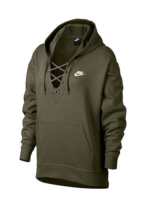 Lace-Up Hoodie