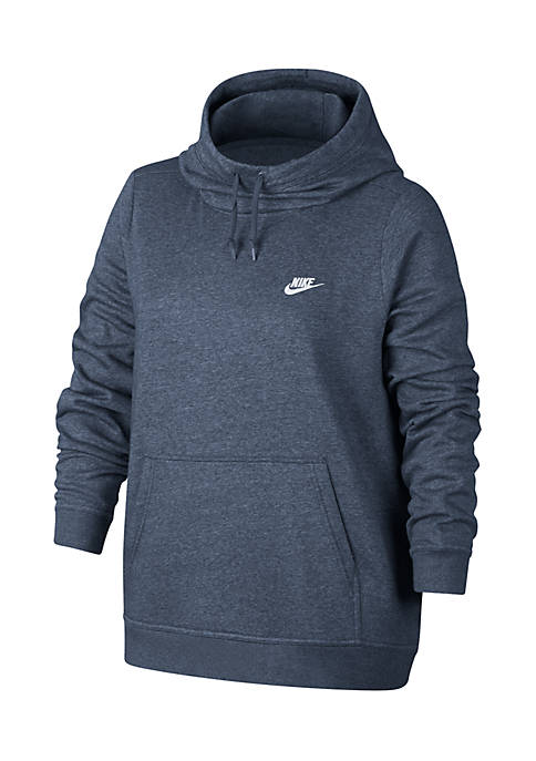 Nike® Plus Size Funnel Neck Pullover