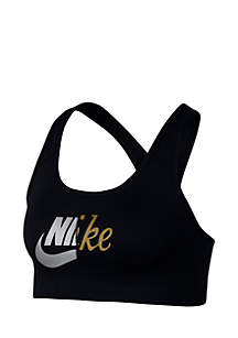 Metallic Logo Bra