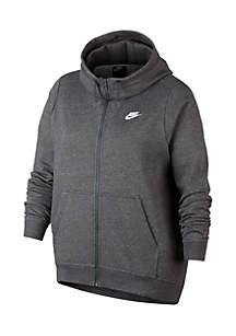 Plus Size Full Zip Fleece Jacket