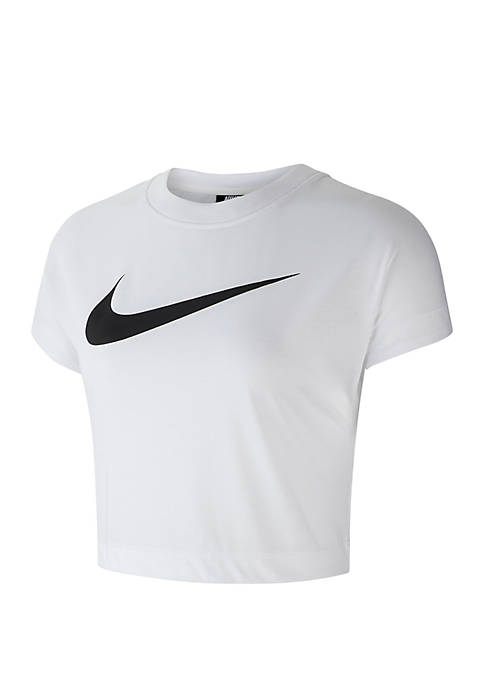 Short Sleeve Swoosh Crop Top