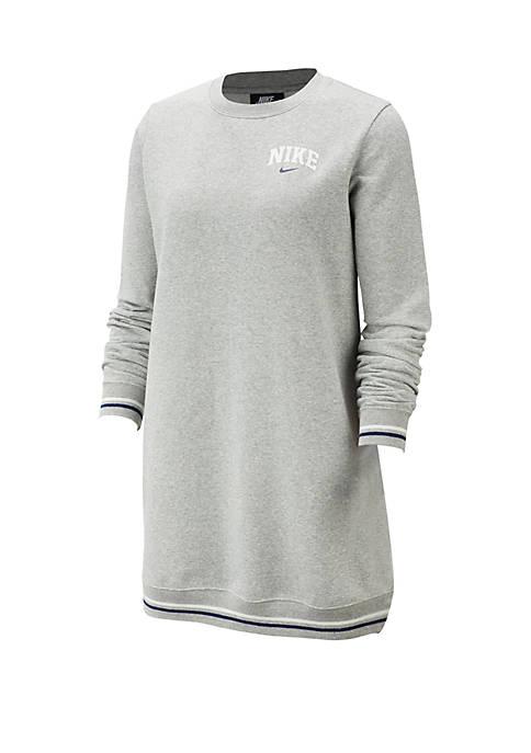 Nike® Long-Sleeve New Varsity Fleece Dress