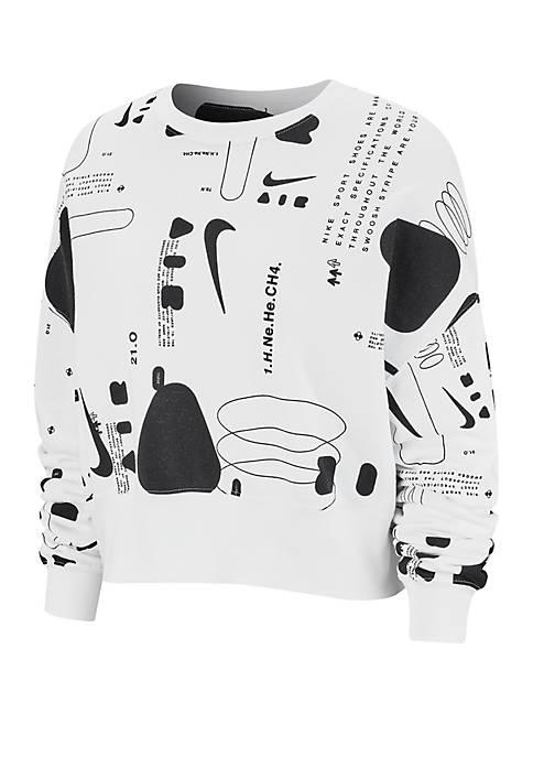 Nike® Air Printed Fleece Crew Shirt