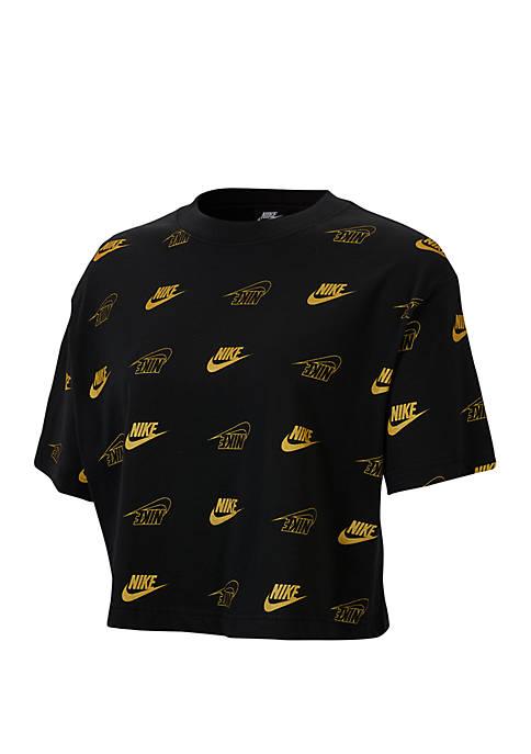 Sportswear Short Sleeve Crop Top