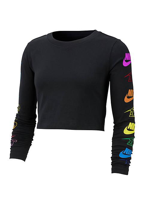 Futura Flip Long Sleeve T Shirt