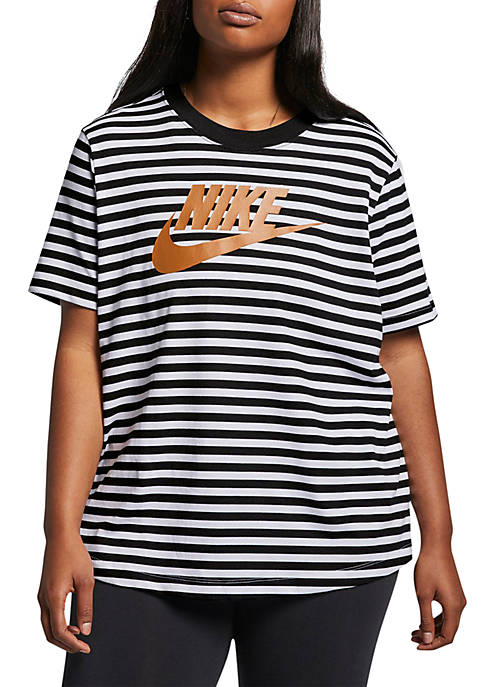 Plus Size Sportswear Animal Print T Shirt