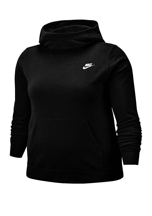 Nike® Plus Size Fleece Funnel Neck Hoodie