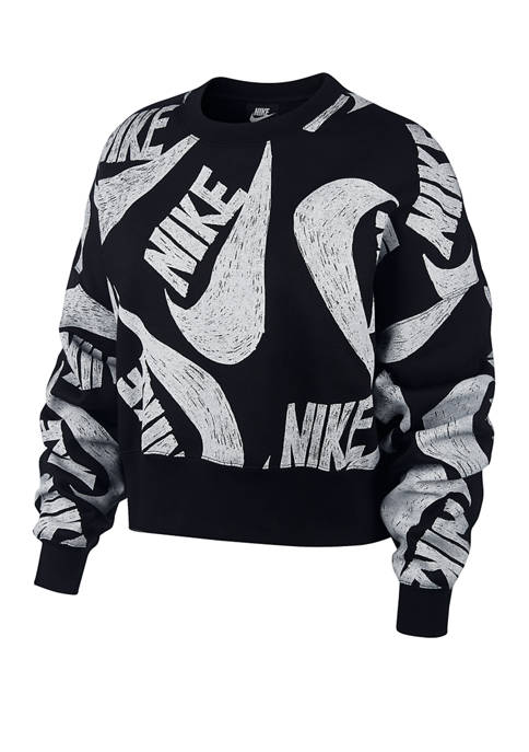 Icon Clash Fleece Crew Neck Pullover