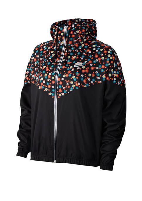 Nike® Color Block Printed Hoodie