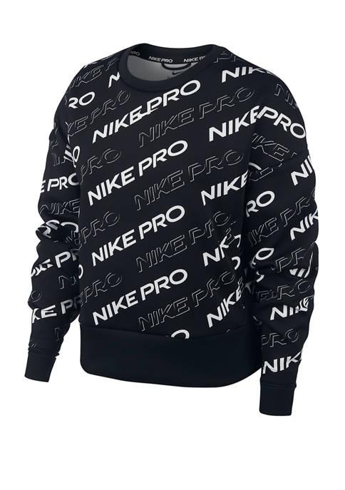 Nike® Pro Logo Fleece Crew Neck Pullover