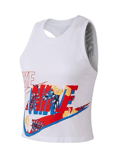Nike® Sportswear Crop Floral Tank Top
