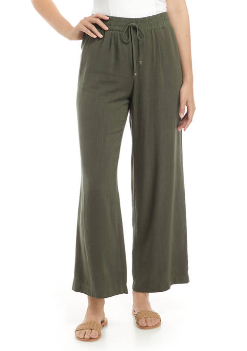 A. Byer Womens Wide Leg Pull On Pants
