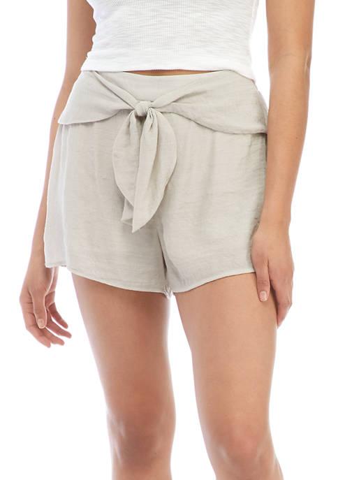 A. Byer Juniors Tie Front Shorts
