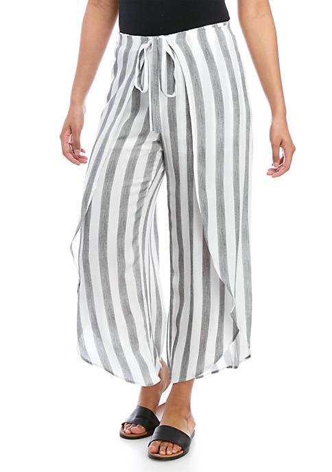 A. Byer Tie Front Stripe Pants