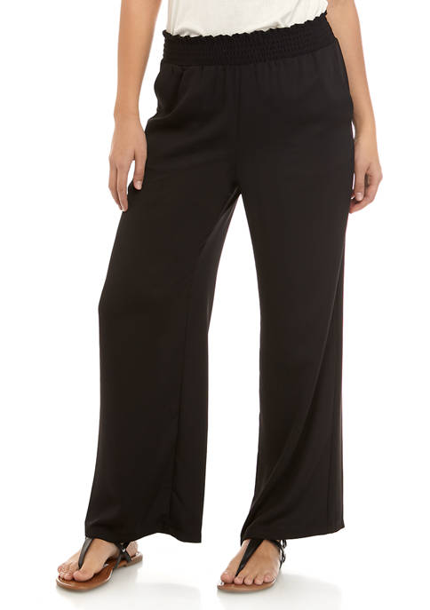 A. Byer Juniors Smock Waist Palazzo Pants